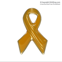 Lapel Pin, Yellow Ribbon