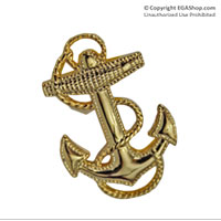 Lapel Pin, Navy Fouled Anchor