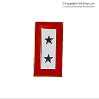 Lapel Pin, Service Flag, 2 Blue Stars