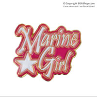 Z Lapel Pin, Marine Girl