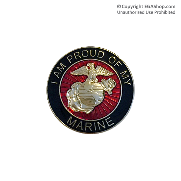 EGA Lapel Pin: I am Proud of My Marine