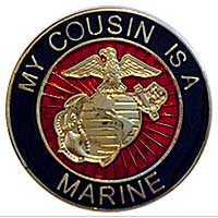 EGA Lapel Pin: My Cousin is a Marine