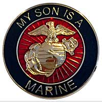 EGA Lapel Pin: My Son is a Marine