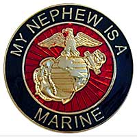 EGA Lapel Pin: My Nephew is a Marine