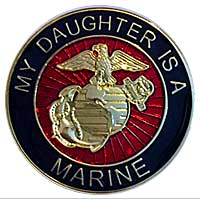 EGA Lapel Pin: My Daughter is a Marine