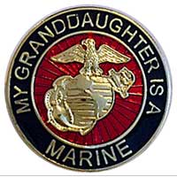 EGA Lapel Pin: My Granddaughter is a Marine