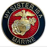 EGA Lapel Pin: My Sister is a Marine