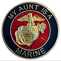 EGA Lapel Pin: My Aunt is a Marine