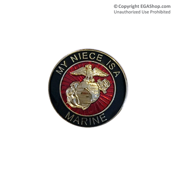 EGA Lapel Pin: My Niece is a Marine