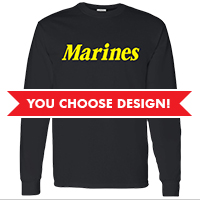 #Long Sleeve Unisex T-shirt (Black Only): You choose design