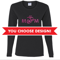 #Long Sleeve Ladies T-shirt (Black Only): You choose design