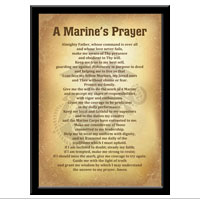 Plaque, 11x17: A Marine's Prayer (Vintage)