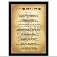 Plaque, 11x17: Rifleman's Creed (Vintage)