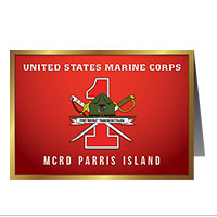 Card Shop: Graduation - 1st Btn, Parris Island (Pkg of 10)