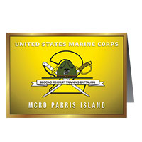 Card Shop: Graduation - 2nd Btn, Parris Island (Pkg of 10)