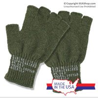 Gloves: GI-Style Fingerless (Wool, Olive Drab)