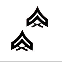 Chevron, Marine Corps: Corporal (black metal, solid brass)