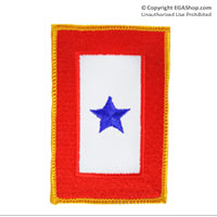 Patch, Service Banner 1 Blue Star Iron-On
