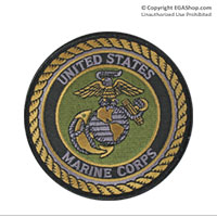 Patch: United States Marine, Olive Drab