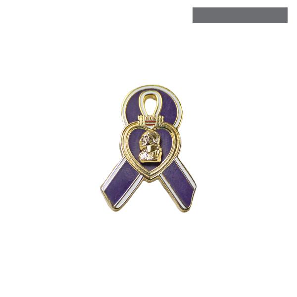 lapel pin purple heart ribbon