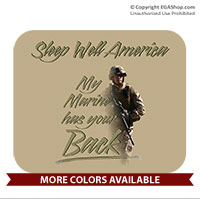 Mousepad: My Marine has your Back