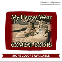 Car Flag: My Heroes Wear Combat Boots