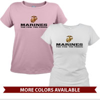_T-Shirt (Ladies): The Few The Proud