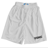_Athletic Shorts: USMC Varsity Font (Unisex)
