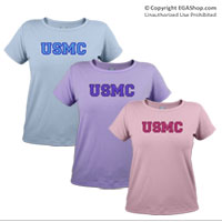_T-Shirt (Ladies): USMC