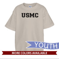 _T-Shirt (Youth): USMC Varsity