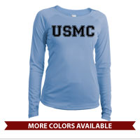 _Long Sleeve Solar Shirt (Ladies): USMC Varsity