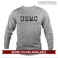 _Long Sleeve Shirt (Unisex): USMC Grunge