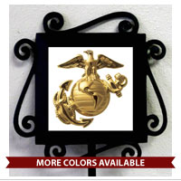 Garden Stake and Tile: Eagle Globe and Anchor (Color/Style Choices)
