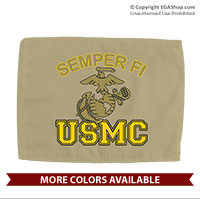 Car Flag: Semper Fi (EGA) USMC (Double-sided, 11x14 w/ pole)