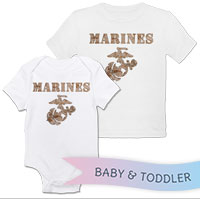 _T-Shirt/Onesie (Toddler/Baby): Marines Camo