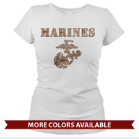 _T-Shirt (Ladies): Marines Camo