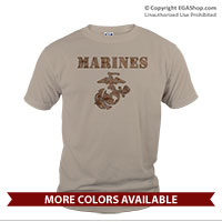 _T-Shirt (Unisex): Marines Camo (Short Sleeve)