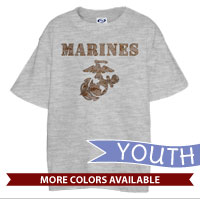 _T-Shirt (Youth): Marines Camo