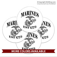 Coaster Set: Marines Est 1775 (Sandstone or Rubber)