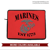 Laptop/Tablet Sleeve: Marines Est 1775 (for laptop, tablet, iPad)