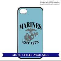 Cell Phone Cover: Marines Est 1775