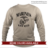 _Long Sleeve Shirt (Unisex): Marines Est 1775