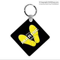 Key Chain: Yellow Footprints
