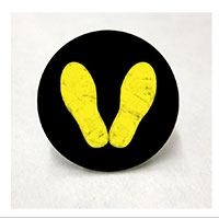 Lapel Pin, Yellow Footprints