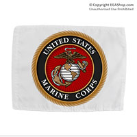 Car Flag: Marine Corps Seal (Double-sided, 11x14 w/ pole)
