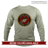 _Long Sleeve Shirt (Unisex): Marine Corps Seal