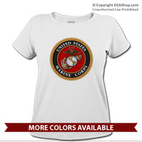 _T-Shirt (Ladies): Marine Corps Seal