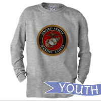 _Youth Long Sleeve Shirt: Marine Corps Seal