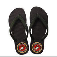 Flip Flops: (adult or youth sizes) Marine Corps Seal
