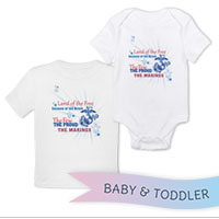 _T-Shirt/Onesie (Toddler/Baby): Land of the Free